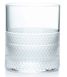 Tiffany & Co. Diamond Point Double Old Fashioned Glass